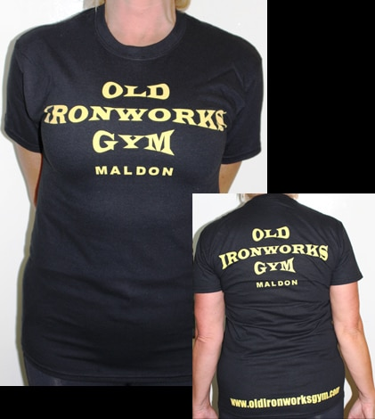 Old Ironworks Gym Black Gildan Tshirts